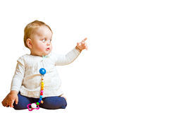 Toddler with hand sign Royalty Free Stock Photography