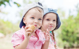 Toddler happy children  in summer Royalty Free Stock Photo