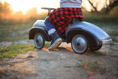 Toddler have journey by car Royalty Free Stock Images