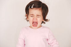 Toddler having a tantrum Royalty Free Stock Photo