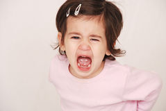 Toddler having a tantrum Royalty Free Stock Images