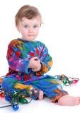 Toddler Holding Lights stock image