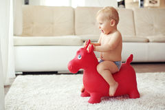 Toddler at home Royalty Free Stock Photos