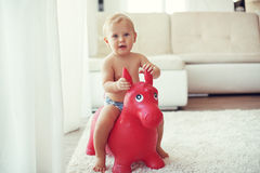 Toddler at home Royalty Free Stock Image