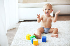 Toddler at home royalty free stock photo