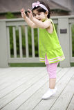 Toddler jumping Stock Photos