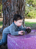 Toddler leaning royalty free stock images