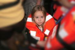 Toddler in Life Preserver Stock Images