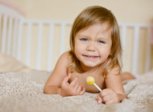 Toddler with lollypop Royalty Free Stock Images