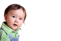 Toddler looking inquisitively at the camera Royalty Free Stock Photo