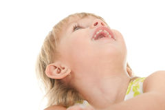 Toddler looking up Royalty Free Stock Images