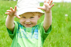 Toddler in the meadow Royalty Free Stock Photography