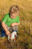 Toddler outdoors Royalty Free Stock Images