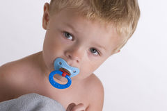 Toddler with Pacifier Stock Photography