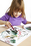 Toddler painting Royalty Free Stock Images