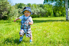 Toddler in a park Royalty Free Stock Image