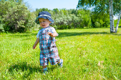 Toddler in a park Stock Photos
