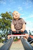 Toddler at a park Royalty Free Stock Photo