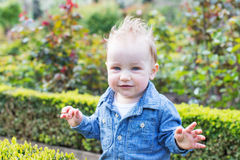 Toddler in the park Royalty Free Stock Photography