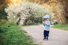 Toddler in park royalty free stock photos