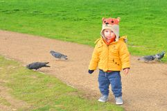 Toddler in park Royalty Free Stock Image