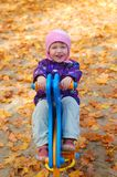 Toddler in the park Stock Image