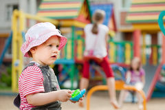 Toddler  in playground Royalty Free Stock Image