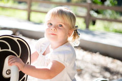 Toddler at playground Stock Photography