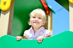 Toddler on playground Royalty Free Stock Photography