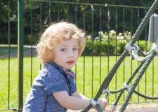Toddler in playground Stock Photos