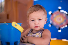 Toddler playhouse bucket Stock Images