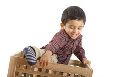 Toddler playing Royalty Free Stock Photography