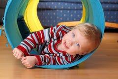 Toddler playing Stock Image