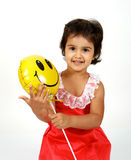 Toddler playing with balloons Royalty Free Stock Photos