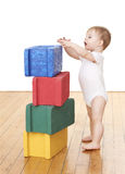 Toddler Playing With Blocks Stock Images
