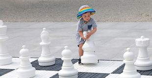 Discovering The Chess Game Stock Photos