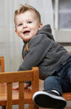 Toddler Playing on Table Royalty Free Stock Images