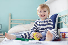 Toddler playing Stock Photography