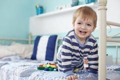 Toddler playing Royalty Free Stock Photo