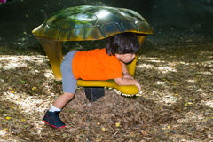Toddler During Playtime At Park Royalty Free Stock Images