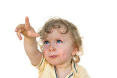 Toddler pointing Stock Photos