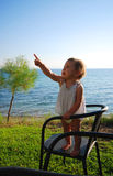 Toddler pointing Stock Images