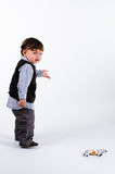 Toddler pointing to right Royalty Free Stock Photography