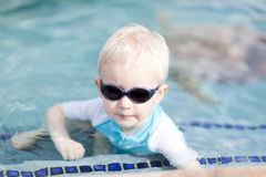 Toddler in a pool Royalty Free Stock Image