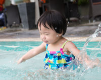 Toddler in the pool Royalty Free Stock Photo