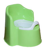 Toddler potty, isolation on white background. Toilet training potty used by small children royalty free stock images