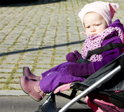 Toddler in pram Royalty Free Stock Photography