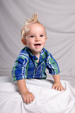 Toddler Punk. Portrait of a toddler boy with spiked hair, looking happy and smiling Stock Images