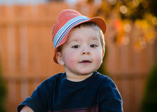 Toddler with a quizzical look Royalty Free Stock Photo