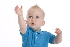 Toddler Is Reaching Out royalty free stock images